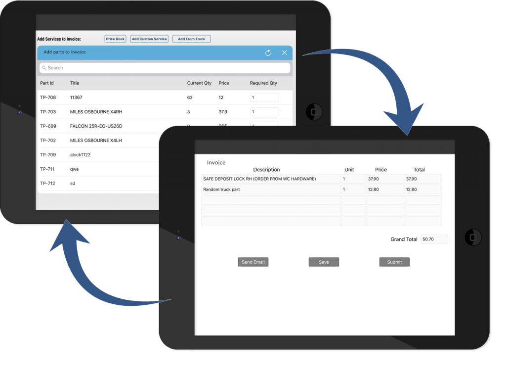 Inventory management iPad app
