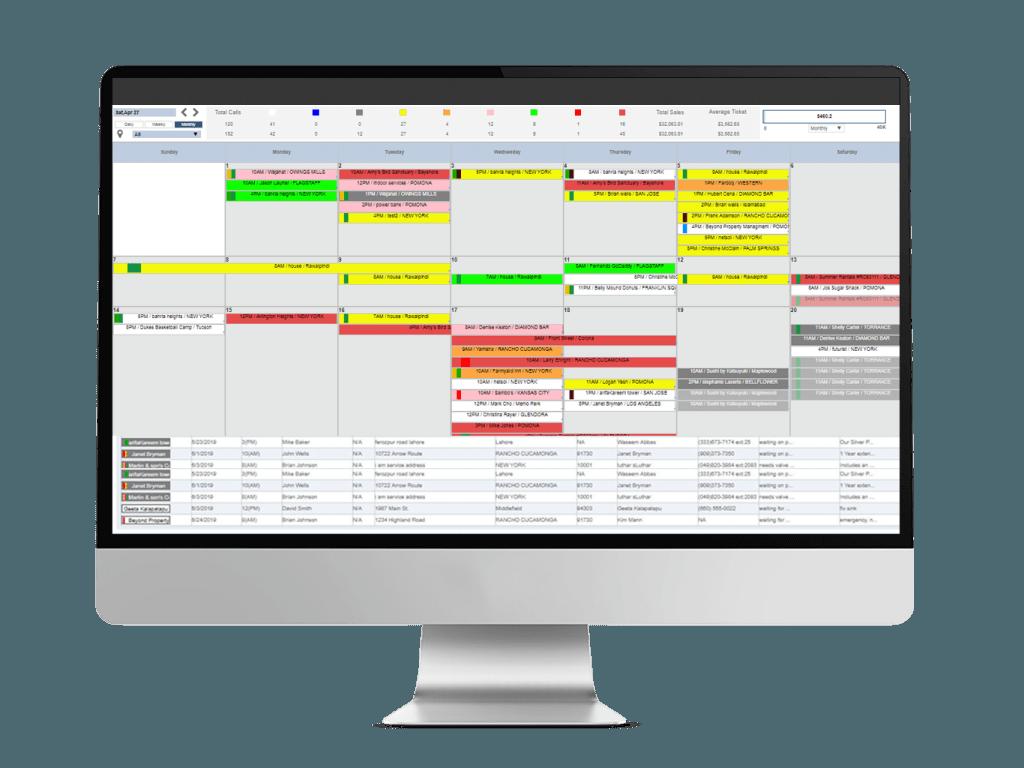 Field Service web dispatch board for contractors