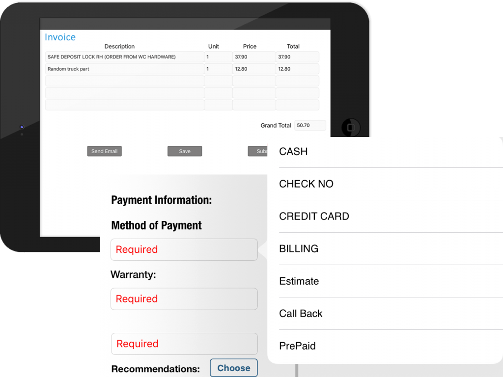 estimates and invoicing with mobile app